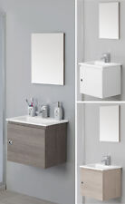 Arredo Bagno Mobile 50cm sospeso moderno con un anta e lavabo in ceramica mobili