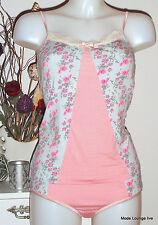 Velvet Kitten Conjunto de ropa interior camiseta braguitas rosas Rosey ENCAJE
