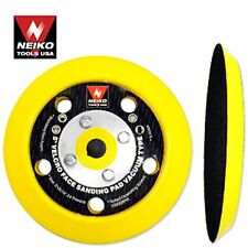 """Lot of 10 5"""" Velcro Face Sanding Pads For Vacuum Neiko Tools"""