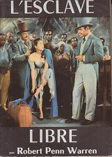 C1 USA Penn Warren ESCLAVE LIBRE 1957 JAQUETTE FILM Raoul WALSH Sud BAND ANGELS