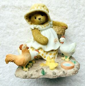 Cherished Teddies~SUSANNAH~Chickens~A Warm Heart Hatches 2001 #847321 MIB NRFB