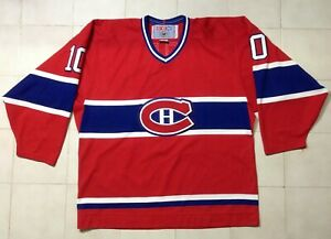 Vintage Montreal Canadiens Guy Lafleur #10 NHL Hockey CCM Jersey SizeL