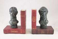 Disney Parks HAUNTED MANSION Bust Heads BOOKENDS Book Ends Set 45th Anniversary