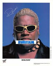 RIKISHI WWE PHOTO WRESTLING PROMO WITH PRE PRINTED SIGNATURE P620 WWF