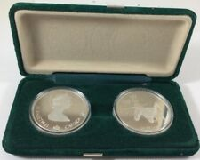 Two Coins 1988 Calgary Olympics Silver Proof 2 Coin Set