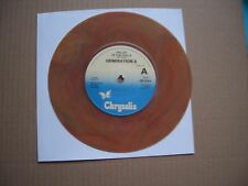"""GENERATION X - VALLEY OF THE DOLLS - BROWN VINYL 7"""" SINGLE - NO PICTURE SLEEVE"""