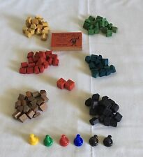 The Game Of Easy Money 4039 Milton Bradley ~ VTG 1950's Replacement Pieces Wood