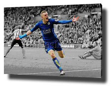 JAMIE VARDY CANVAS PRINT POSTER PHOTO PIC LEICESTER CITY WALL ART 2015 / 2016