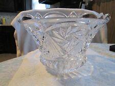 ABP VINTAGE CUT GLASS Crystal Centerpiece BOWL Star of David Judaica >GORGEOUS