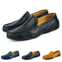 38-47 Herren Mokassin Fahren Halbschuhe Loafers Slipper Verschließfest Komfort D