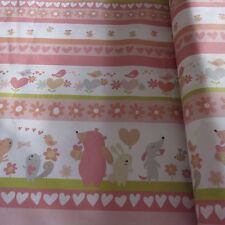 MASSIVE REMNANT FreeSpirit SWEETHEART STRIPE Cotton Fabric - Approx 114cmx0.4M