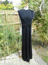 M For Madonna H&M Dress Jet Black Maxi Dress Deep V Front Very Sexy EUR 34 UK 6