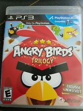 Angry Birds Trilogy (Sony Playstation 3, 2012) PS3 Game Complete with Manual