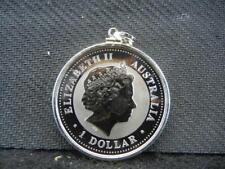 2006 Australia Kookaburra $1 Proof. 999 silver with sterling pendant. Lot 39