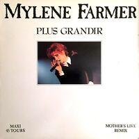VINYLE MAXI 12'' MYLENE FARMER PLUS GRANDIR REMIX RARE COLLECTOR FRANCE 1990