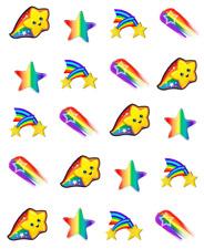 Rainbow Shooting Stars Waterslide Nail Decals/Nail art