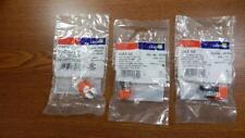 THREE Leviton 5G108-RO5 GigaMax Cat 5e UTP QuickPort Connectors FACTORY SEALED