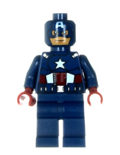 Lego Captain America  Marvel Super Heroes Minifigure - Dark Blue Suit 6865!