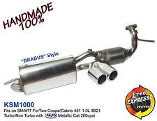 Sportauspuff Auspuff für SMART ForTwo 451 3B21 Turbo/NonTurb mit HJS Katalysator