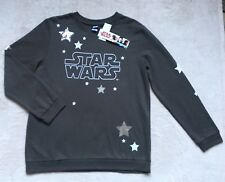 Star Wars Ladies Sweatshirt, Size Large, Charcoal Gray, Long Sleeves