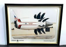 GENERAL ELECTRIC GE36 NASA UNDUCTED FAN ENGINE UDF FRAMED PRINT PICTURE