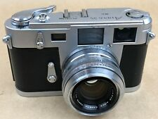 Aires 35 IIIC Rangefinder Camera w/ 4.5cm f/1.9 H Coral M3 Shaped- Just Serviced
