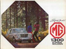 Mg 1300 2 puertas sedán 1968 de agosto original de Reino Unido Folleto de ventas Pub. Nº 2515