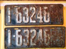 1926 Nebraska License Plates, Pair