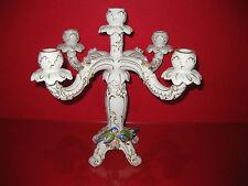 Unterweissbach Leuchter Kerze Vogel Meise Figur Rorzellan Thüringen 34 cm