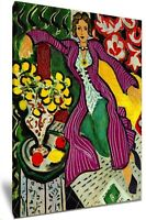 Woman In A Purple Coat By Henri Matisse HD Framed Canvas Wall Art Picture Print