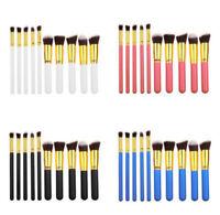 10pcs Kabuki Make up Brush Set Style Professional Foundation Blusher Face Powder