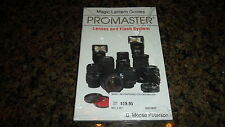 PROMASTER LENSES AND FLASH SYSTEM B. MOOSE PETERSON MAGIC LANTERN GUIDES CAMERA
