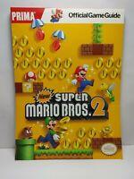 New Super Mario Bros 2 Prima Official Strategy Game Guide Nintendo 3DS