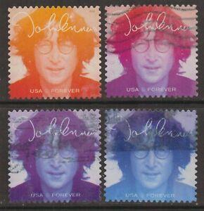 Scott #5312-15 Used Set of 4, John Lennon (Off Paper)