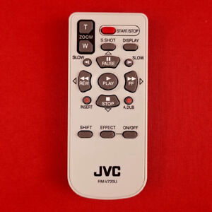 JVC RMV720U RM-V720U Camcorder Remote Control GRDX97US GRDZ7US GRX5US GRD290U