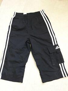 "Boys 24"" 3/4"" length Long ADIDAS Shorts - Black"