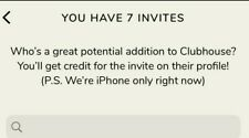 Clubhouse invit / invite / invitation - iOS 13+ ONLY