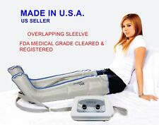 Air Compression Leg Massager (MADE IN USA, FDA 510K CLEARED) FULL LEG PAIR (XL)