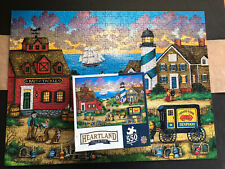 """Master Pieces Bonnie White Heartland Collection """"The Days End"""" 550 PC Puzzle"""