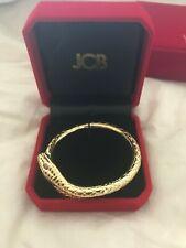 JCB Jewelry Le Charmeur Gold tone Snake Cuff Wrap Around Bracelet crystal eye