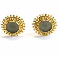 Elizabeth Locke 18K Gold Venetian Glass Earrings