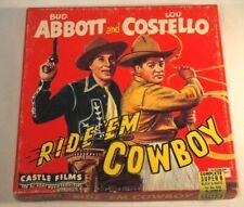 "Castle Films 1942 Abbott & Costello ""Ride 'Em Cowboy"" No. 853 Super 8mm B&W"