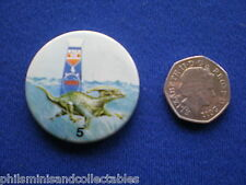 Matey Bubble Bath - Prehistoric Creatures  # 5   pin badge - 1970s