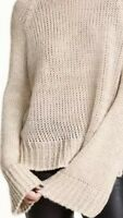 H & M Divided Womens Sweater Ivory 100% Acrylic Oversized Sytle Knit Top Size S