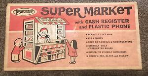 Toymaster Supermarket w/ Cash Register & Plastic Phone No 1 1112 SEALED! WOW!