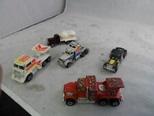 Lot of 5 Big Rigs - Kenner Universal, Kidco, Other