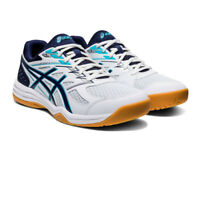 Asics Mens Upcourt 4 Indoor Court Shoes White Sports Squash Netball Handball