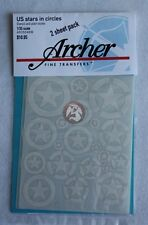 Archer 1/35 US Vehicle Stars with Circles (Stencil and Plain) (White) AR35048W