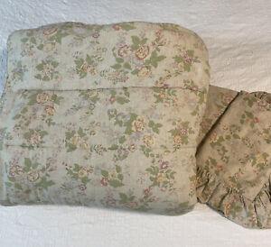 Vintage Ralph Lauren King Comforter and 2 Pillow Shams Floral