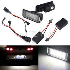 2 Error Free 24-LED 3528 SMD License Plate Light For VW Golf GTI MK5/6 PASSAT B6